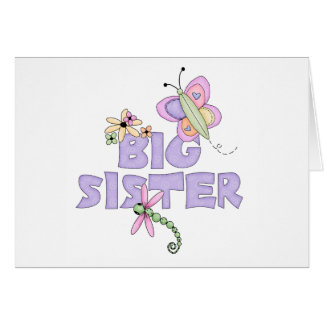 Cute Bugs Big Sister Stationery Note Card