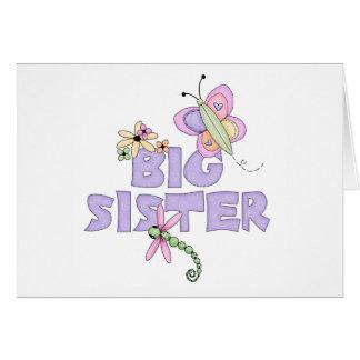 Cute Bugs Big Sister Note Card