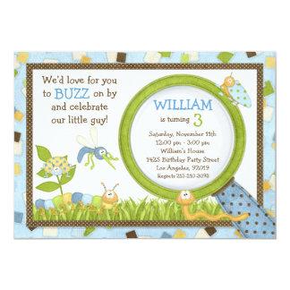 Cute Bugs Birthday Party Invitation
