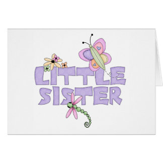 Cute Bugs Little Sister Note Card