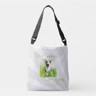 """Cute Bull Terrier bag """"Don't worry, be happy"""""""