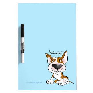 Cute Bull Terrier Cartoon Dry Erase Board