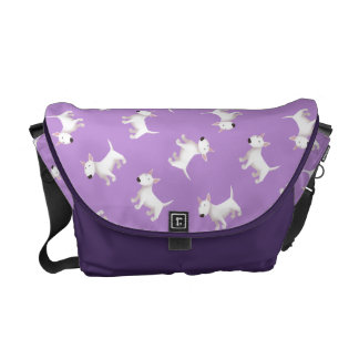 Cute Bull terrier Pattern Bag Courier Bags