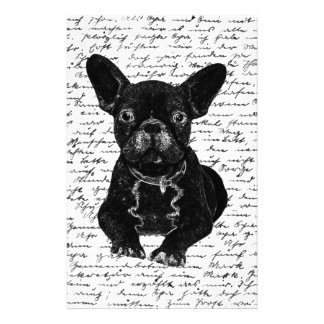 Cute bulldog customized stationery