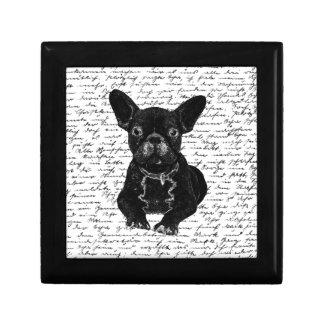Cute bulldog gift box