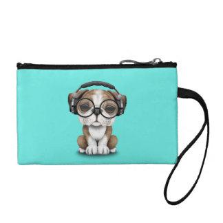 Cute Bulldog Puppy Dj Wearing Headphones Coin Purse