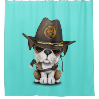 Cute Bulldog Puppy Zombie Hunter