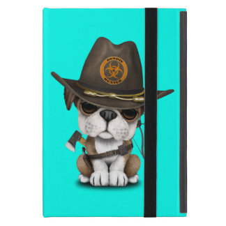 Cute Bulldog Puppy Zombie Hunter Case For iPad Mini