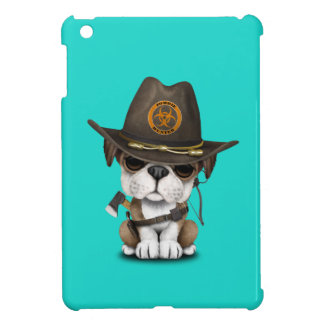Cute Bulldog Puppy Zombie Hunter iPad Mini Case