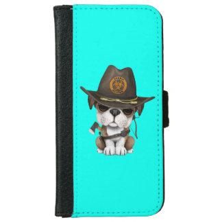 Cute Bulldog Puppy Zombie Hunter iPhone 6 Wallet Case