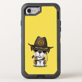 Cute Bulldog Puppy Zombie Hunter OtterBox Defender iPhone 8/7 Case
