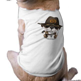 Cute Bulldog Puppy Zombie Hunter Shirt
