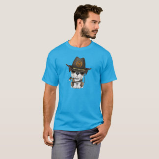 Cute Bulldog Puppy Zombie Hunter T-Shirt