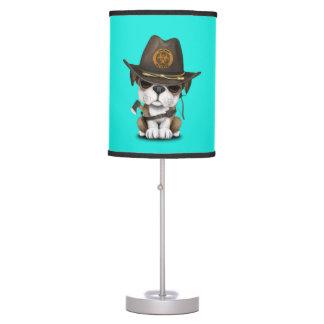 Cute Bulldog Puppy Zombie Hunter Table Lamp