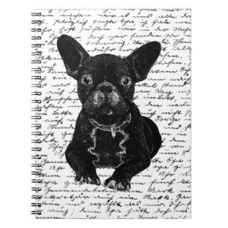 Cute bulldog spiral notebook