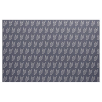 Cute Bullterrier - Navy Fabric