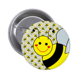 Cute Bumble Bee 2 Inch Round Button