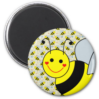 Cute Bumble Bee 2 Inch Round Magnet