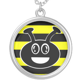Cute Bumble Bee Black and Yellow Necklace