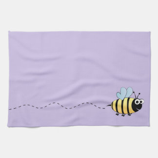 Cute bumble bee cartoon hand towel
