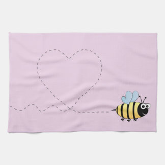Cute bumble bee cartoon hand towels