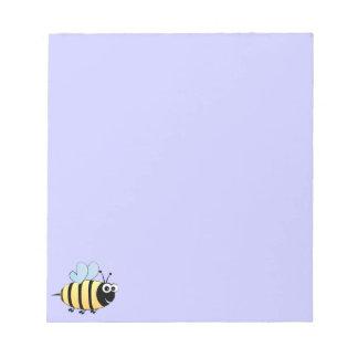 Cute bumble bee cartoon kids notepad