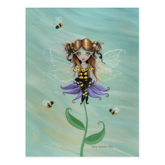 Cute Bumble Bee Fairy Postcard
