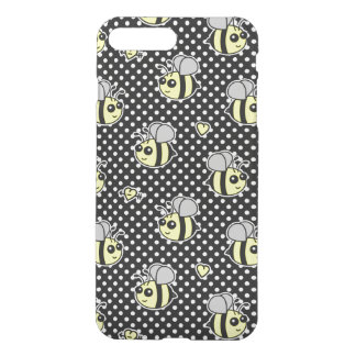 Cute Bumble Bee Pattern Black iPhone 7 Plus Case