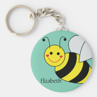 Cute Bumble Bee Personalized Keychain