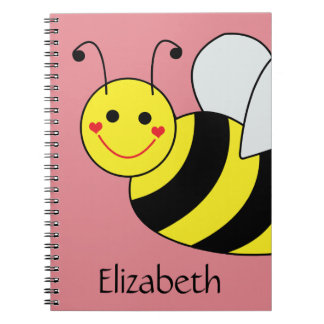 Cute Bumble Bee Personalized Note Book