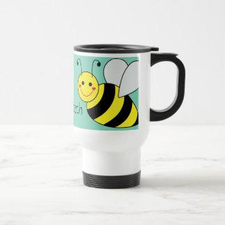 Cute Bumble Bee Personalized Travel Mug