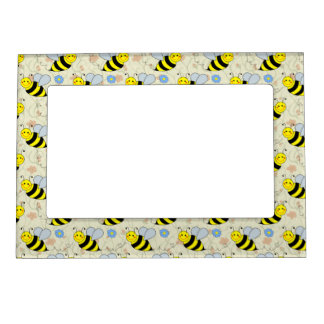 Cute Bumble Bee Photo Frame Magnet