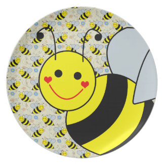 Cute Bumble Bee Plates
