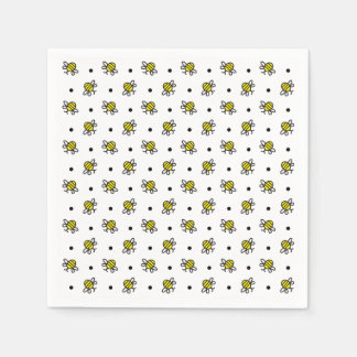 Cute Bumble Bee Themed Baby Shower Napkins Disposable Napkin