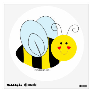 Cute Bumble Bee Wall Sticker