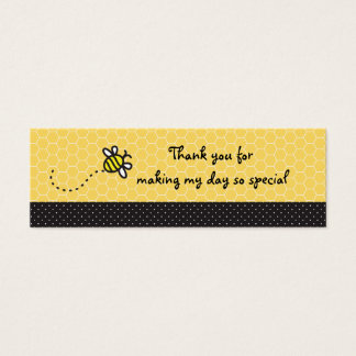 Cute Bumble Bees Baby Shower Thank You Tags Mini Business Card