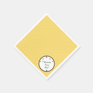 Cute Bumble Bees Honeycomb Pattern Napkins Paper Napkins