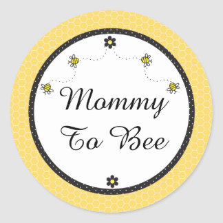 "Cute Bumble Bees ""Mommy To Bee"" Stickers"