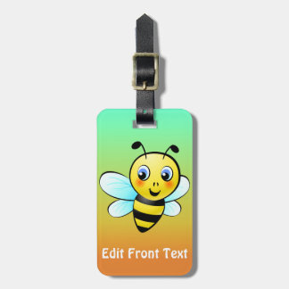 Cute Bumblebee Cartoon Luggage Tag