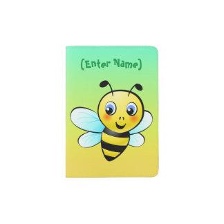 Cute Bumblebee Cartoon Passport Holder