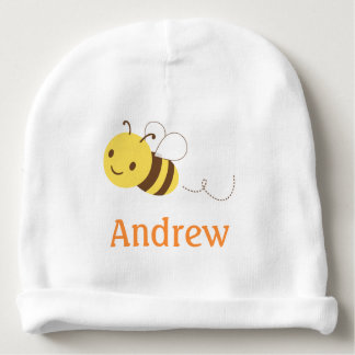 Cute Bumblebee Custom Personalized Baby's Name Baby Beanie