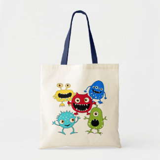 Cute Bunch of Monsters Tote Bag