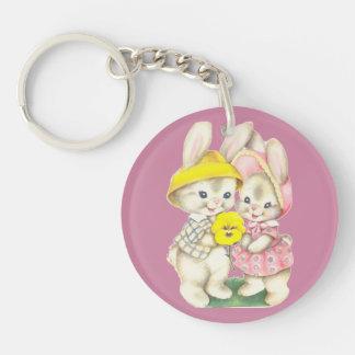 Cute bunnies keychain