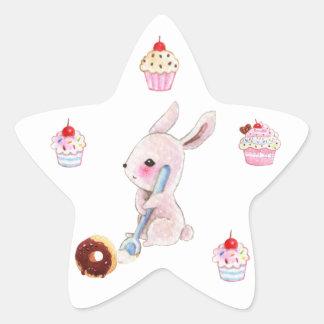 Cute bunny and kawaii cupcakes stickers