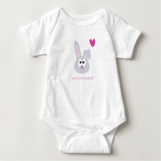 Cute Bunny Baby you are loved newborn shirt