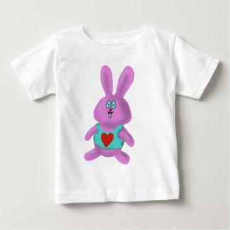 Cute bunny cartoon baby t-shirt design