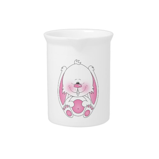 Cute Bunny Cartoon Beverage Pitcher