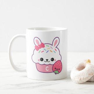 Cute Bunny Cupcake Monogram Coffee Mug