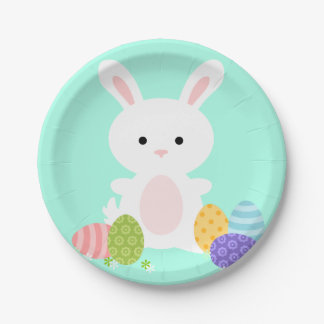 Cute Bunny Easter Paper Plate