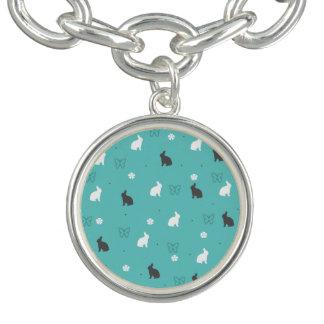 cute bunny flower and butterfly pattern bracelet